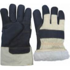 Перчатки утеплённые из мягкой мебельной кожи