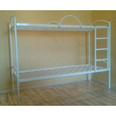 Кровать двухярусная с металлическими спинками 1900х700